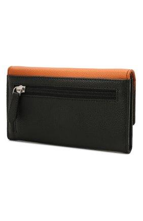 Женские кожаный кошелек HARLEY-DAVIDSON черного цвета, арт. OL1479L-OrgBlk | Фото 2