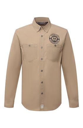 Мужская хлопковая рубашка HARLEY-DAVIDSON бежевого цвета, арт. 96235-18VM | Фото 1