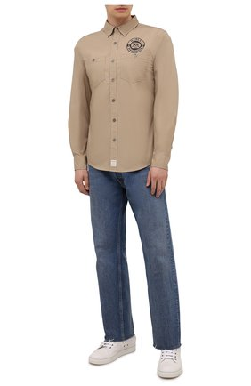 Мужская хлопковая рубашка HARLEY-DAVIDSON бежевого цвета, арт. 96235-18VM | Фото 2