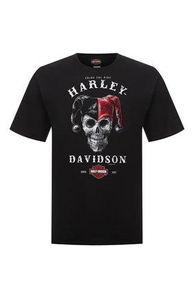 Мужская хлопковая футболка exclusive for moscow HARLEY-DAVIDSON черного цвета, арт. R004005 | Фото 1