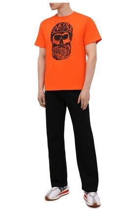 Мужская хлопковая футболка exclusive for moscow HARLEY-DAVIDSON оранжевого цвета, арт. R004022 | Фото 2 (Материал внешний: Хлопок; Рукава: Короткие; Стили: Гранж; Принт: С принтом)