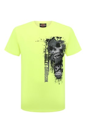 Мужская хлопковая футболка exclusive for moscow HARLEY-DAVIDSON светло-зеленого цвета, арт. R004023 | Фото 1 (Материал внешний: Хлопок; Рукава: Короткие; Принт: С принтом; Стили: Гранж)