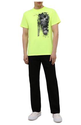 Мужская хлопковая футболка exclusive for moscow HARLEY-DAVIDSON светло-зеленого цвета, арт. R004023 | Фото 2 (Материал внешний: Хлопок; Рукава: Короткие; Принт: С принтом; Стили: Гранж)