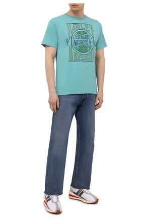 Мужская хлопковая футболка exclusive for moscow HARLEY-DAVIDSON бирюзового цвета, арт. R004025 | Фото 2 (Материал внешний: Хлопок; Рукава: Короткие; Принт: С принтом; Стили: Гранж)