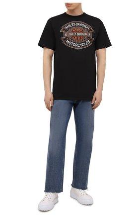 Мужская хлопковая футболка exclusive for moscow HARLEY-DAVIDSON черного цвета, арт. R004028 | Фото 2 (Материал внешний: Хлопок; Рукава: Короткие; Принт: С принтом; Стили: Гранж)