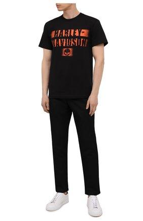 Мужская хлопковая футболка exclusive for moscow HARLEY-DAVIDSON черного цвета, арт. R004037 | Фото 2 (Материал внешний: Хлопок; Рукава: Короткие; Принт: С принтом; Стили: Гранж)