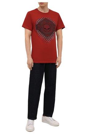 Мужская хлопковая футболка exclusive for moscow HARLEY-DAVIDSON красного цвета, арт. R004041 | Фото 2 (Материал внешний: Хлопок; Рукава: Короткие; Принт: С принтом; Стили: Гранж)