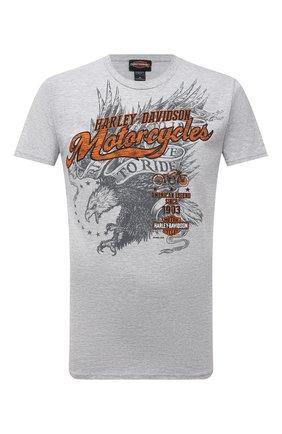 Мужская хлопковая футболка exclusive for moscow HARLEY-DAVIDSON серого цвета, арт. R004051 | Фото 1