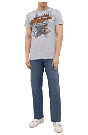Мужская хлопковая футболка exclusive for moscow HARLEY-DAVIDSON серого цвета, арт. R004051 | Фото 2