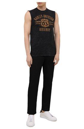 Мужская хлопковая майка exclusive for moscow HARLEY-DAVIDSON черного цвета, арт. R004062 | Фото 2 (Материал внешний: Хлопок; Принт: С принтом; Стили: Гранж)