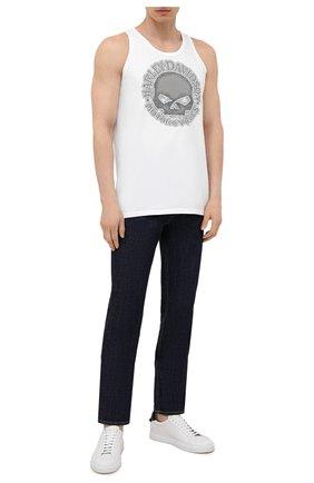 Мужская хлопковая майка exclusive for moscow HARLEY-DAVIDSON белого цвета, арт. R004066 | Фото 2 (Материал внешний: Хлопок; Принт: С принтом; Стили: Гранж)