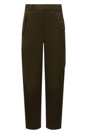 Мужские хлопковые брюки LOEWE хаки цвета, арт. H526Y04W39 | Фото 1