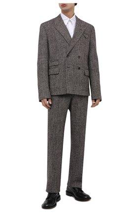 Мужские кожаные дерби BOTTEGA VENETA черного цвета, арт. 651315/V10T0 | Фото 2 (Материал внутренний: Натуральная кожа; Стили: Классический)