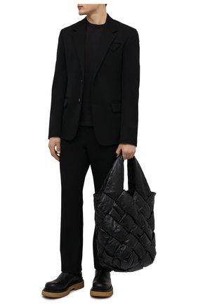 Мужской шерстяной пиджак BOTTEGA VENETA черного цвета, арт. 659589/VKIS0 | Фото 2