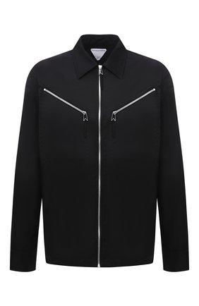 Мужская куртка BOTTEGA VENETA черного цвета, арт. 666543/VKIL0 | Фото 1 (Материал внешний: Синтетический материал; Рукава: Длинные; Кросс-КТ: Куртка, Ветровка; Стили: Минимализм; Длина (верхняя одежда): Короткие)