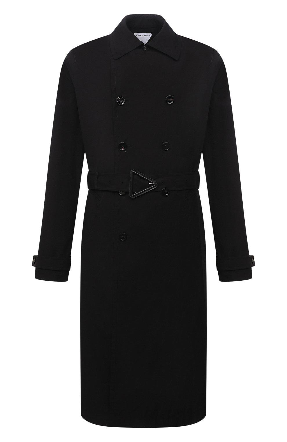 Мужской тренч BOTTEGA VENETA черного цвета, арт. 660143/V0Y20 | Фото 1 (Мужское Кросс-КТ: Тренчкот-верхняя одежда; Рукава: Длинные; Материал внешний: Синтетический материал, Хлопок; Материал подклада: Синтетический материал; Длина (верхняя одежда): Длинные; Стили: Кэжуэл)