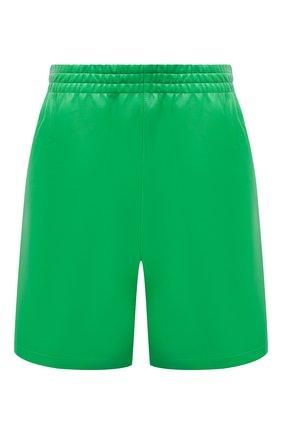 Мужские кожаные шорты BOTTEGA VENETA зеленого цвета, арт. 633447/VKV90 | Фото 1