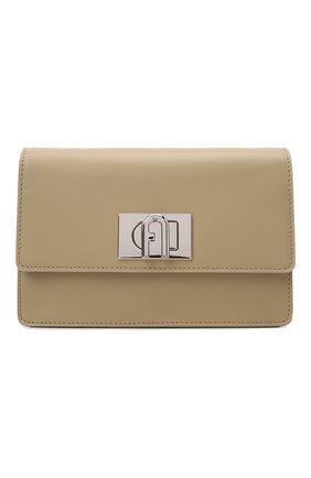 Женская сумка furla 1927 soft mini FURLA бежевого цвета, арт. WB00339/AX0748   Фото 1