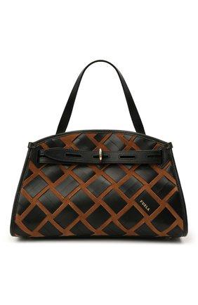 Женская сумка furla margherita FURLA черного цвета, арт. WB00174/AX0793 | Фото 1 (Материал: Натуральная кожа; Сумки-технические: Сумки top-handle; Ремень/цепочка: На ремешке; Размер: medium)