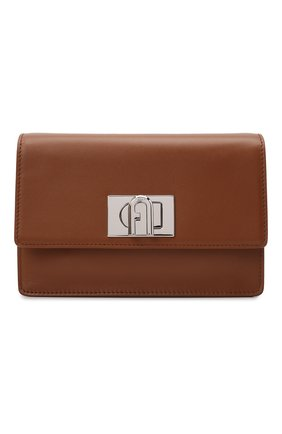 Женская сумка furla 1927 soft mini FURLA коричневого цвета, арт. WB00339/AX0748   Фото 1