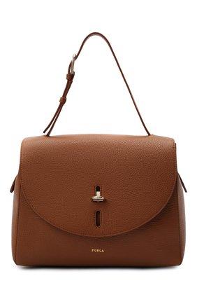 Женская сумка furla net FURLA коричневого цвета, арт. BAFQFUA/HSF000   Фото 1
