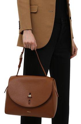 Женская сумка furla net FURLA коричневого цвета, арт. BAFQFUA/HSF000   Фото 2