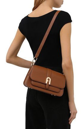 Женская сумка sofia small FURLA коричневого цвета, арт. WB00094/HSF000   Фото 2