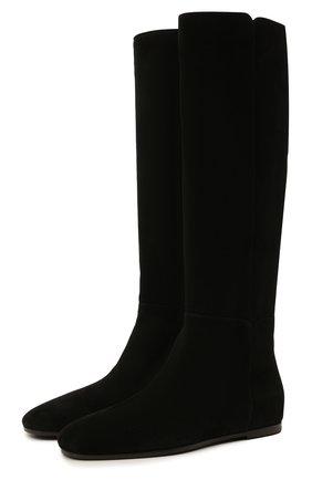 Женские замшевые сапоги LORO PIANA черного цвета, арт. FAL7828 | Фото 1