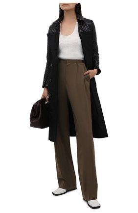 Женское хлопковое пальто BURBERRY черного цвета, арт. 8038802 | Фото 2
