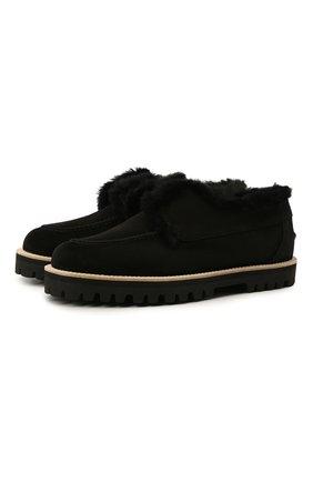 Женские замшевые ботинки LE SILLA черного цвета, арт. 5183T020M1LLP0W   Фото 1
