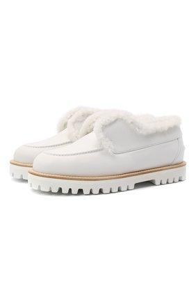 Женские кожаные ботинки yacht LE SILLA белого цвета, арт. 5182T020M1MMCHI   Фото 1