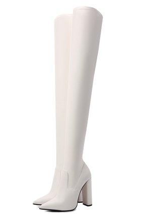 Женские кожаные ботфорты LE SILLA белого цвета, арт. 2959T100R3PPFAK   Фото 1