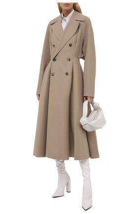 Женские кожаные ботфорты LE SILLA белого цвета, арт. 2959T100R3PPFAK   Фото 2