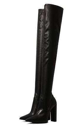 Женские кожаные ботфорты LE SILLA черного цвета, арт. 2959T100R3PPFAK   Фото 1