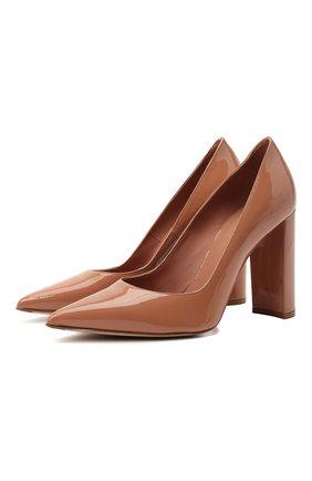 Женские кожаные туфли LE SILLA бежевого цвета, арт. 2905R090R3PPKAB   Фото 1