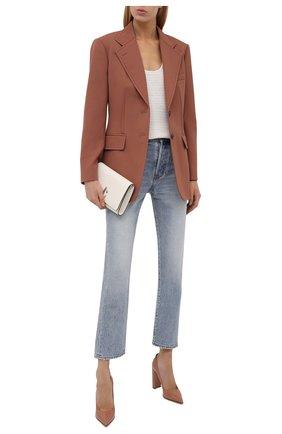 Женские кожаные туфли LE SILLA бежевого цвета, арт. 2905R090R3PPKAB   Фото 2