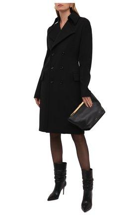 Женские кожаные ботильоны stivaletto eva 90 LE SILLA черного цвета, арт. 2182T080R1PPGL0   Фото 2