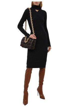 Женские ботфорты cuissard eva 100 LE SILLA коричневого цвета, арт. 2159R090R1PPFAK   Фото 2