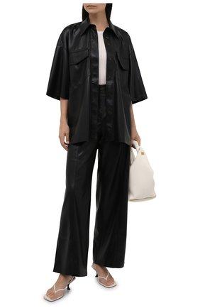 Женская рубашка из экокожи NANUSHKA черного цвета, арт. NW21CRSH01199   Фото 2