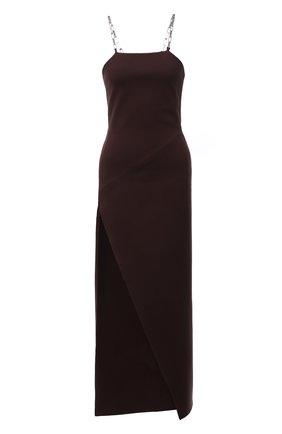 Женское платье из вискозы THE ATTICO коричневого цвета, арт. 213WCM01/V027   Фото 1