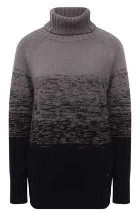Женский свитер из шерсти и кашемира MANZONI24 темно-синего цвета, арт. 21M349-XSFUM/38-46   Фото 1