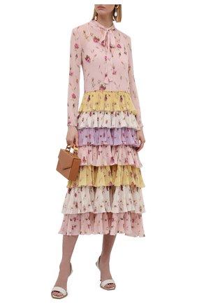 Женское платье REDVALENTINO разноцветного цвета, арт. WR3VAAJ5/615 | Фото 2 (Материал подклада: Синтетический материал; Материал внешний: Синтетический материал; Рукава: Длинные; Длина Ж (юбки, платья, шорты): Миди; Стили: Романтичный; Женское Кросс-КТ: Платье-одежда)
