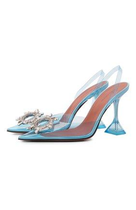 Женские комбинированные туфли begum AMINA MUADDI голубого цвета, арт. BEGUM GLASS/PVC/LIGHT BLUE   Фото 1