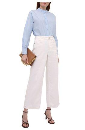 Женская хлопковая рубашка WINDSOR голубого цвета, арт. 52 DB503H 10011007 | Фото 2