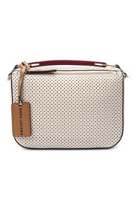 Женская сумка the box 23 MARC JACOBS (THE) кремвого цвета, арт. H107L01PF21 | Фото 1 (Материал: Натуральная кожа; Сумки-технические: Сумки top-handle; Размер: small; Ремень/цепочка: На ремешке)