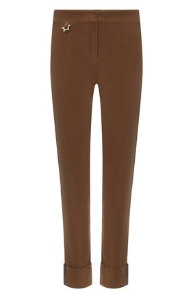 Женские хлопковые брюки LORENA ANTONIAZZI бежевого цвета, арт. A2140PA38A/3068 | Фото 1