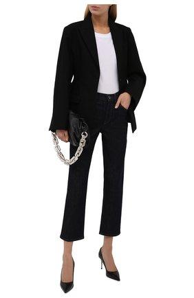 Женские джинсы LORENA ANTONIAZZI темно-синего цвета, арт. A2148PA19A/9999 | Фото 2