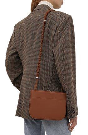 Женская сумка my way small LORO PIANA светло-коричневого цвета, арт. FAL8160 | Фото 2 (Ремень/цепочка: На ремешке; Размер: small; Материал: Натуральная кожа; Сумки-технические: Сумки через плечо)