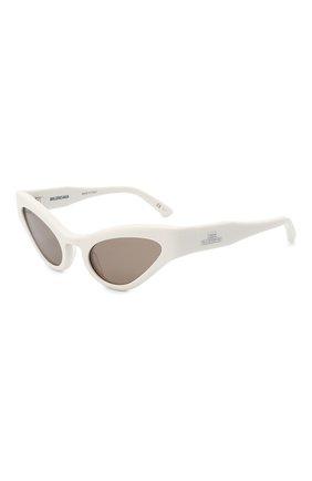 Женские солнцезащитные очки BALENCIAGA белого цвета, арт. 664094/T0001 | Фото 1