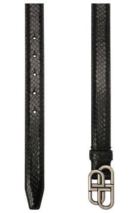 Женский кожаный ремень BALENCIAGA черного цвета, арт. 581690/2TE2Y | Фото 2